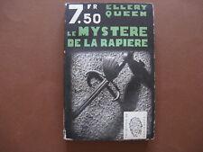 LE MYSTERE DE LA RAPIERE