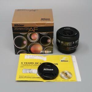 Nikon NIKKOR AF 35mm f/2D Lens - plus Box & Warranty Card
