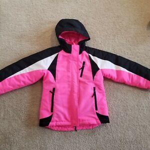 girl fall winter ski jacket coat Kids 7 8 pink  fleece Children's place