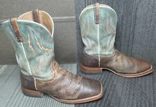 Mens Ariat Arena Rebound Leather Western Cowboy Boots sz 12 EE
