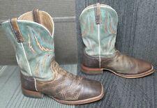 Mens Ariat Arena Rebound Leather Western Cowboy Boots sz 12 EE