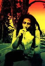 Bob Marley Poster, Rasta, Smoking Weed, Jamaica, Reggae