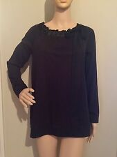 S black RIBBON COLLAR with BOW blouse by DAISY FUENTES