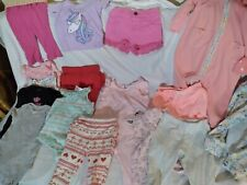 18 pc Girls Baby Clothes Lot Newborn 0-3 Month cotton Snap1pc pj-socks & hats.
