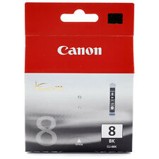 NEW SEALED GENUINE CANON CLI 8 BLACK INK CARTRIDGE OEM Pro9000 iP4200 iP4300