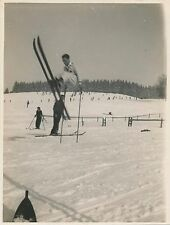 Photo Tirage argentique époque Ski entraînement pour le saut