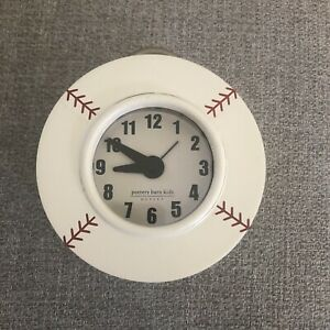 Pottery Barn Kids Baseball Bedside Table Clock