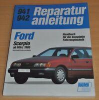 FORD Scorpio Sechszylinder V6 ab 1985 Motor Elektrik Reparaturanleitung B941