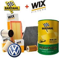 Kit tagliando 4 FILTRI WIX 5 LT OLIO BARDAHL TECHNOS EXCEED 5W30 GOLF 7 1.6 TDI