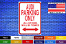 "Audi Parking Only All Other Tow 8""x12"" American White Aluminum Sign Novelty Buy!"