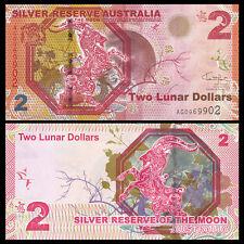 Australia 2015 year SILVER RESERVE Zodiac Goat 2 Dollars BrandNew Banknotes