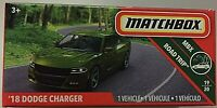 MATCHBOX DIECAST GREEN '18 DODGE CHARGER ROAD TRIP VEHICLE 19 OF 20 SCALE 1:64