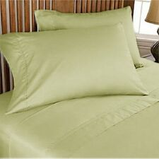 1000 TC EGYPTIAN COTTON BEDDING SET 4 PCs FITTED SHEET+DUVET COVER SAGE COLOR