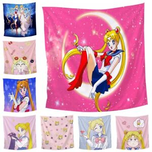 Anime Sailor Moon Tapestry 3D Printing Tapestrying Rectangular Home Decor Y04