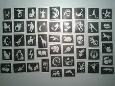 400 pochoirs de tatouage pour les tatouages paillettes Collecte de fonds