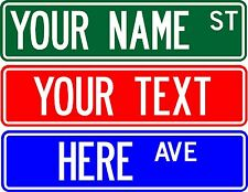 "PERSONALIZED CUSTOM STREET SIGN, 6"" X 24"" MAKE YOUR OWN SIGN"