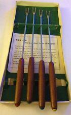 fondue forks solingen Germany Wood Handles Set Of 4