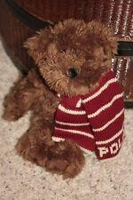 "RALPH LAUREN POLO Plush Brown Teddy Bear 2003 Knit Scarf Toy Collectible 9"" B1"