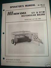 New Idea Model 571 And 571w Square Hay Baler O Man