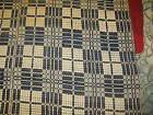 Antique 1850 Jacquard Coverlet Hand Spun loom blanket bedspread 80  x 90