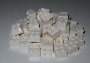 LEGO Bricks  2x2 x 50 pcs - White - NEW!