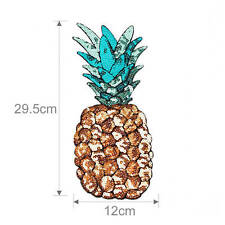 Pineapple embroidered iron on patch sewn For clothing applique stickers badges G