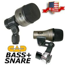Drum microphone set Bass Kick mic+ Snare Microphones Kit Cad Km 212 Sn 210 Pro 7