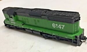 (HO) Athearn SD9 Burlington Northern #6147 Bench Tested Good Condition Free S&H