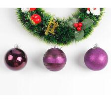 12PCS Christmas Balls Baubles Party Xmas Tree Hanging Ornament Decor Gifts Fun