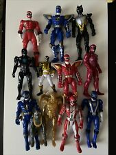 """LOT OF 12 MIGHTY MORPHING POWER RANGERS  3"""" to 8"""" TOYS FIGURES"""