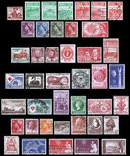 Australia Scott 249 / 311 (1952-58) Used/Mint H F-Vf, Cv $12.70