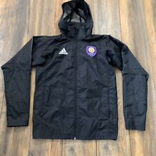 MLS Orlando City SC Adidas Authentic Issued Sideline Jacket Coat BLACK OUT Small