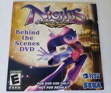 Nights Journey of Dreams Behind the Scenes DVD Wii Sega BRAND NEW SEALED