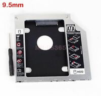 9.5mm 2nd SATA HDD SSD Hard Drive Caddy Adapter for Lenovo Y400 Y500 Optical DVD