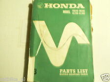 HONDA CB250,CB350,CL250 AND CL350 PARTS LIST NO 3 1969 MOTORCYCLE
