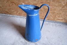 Ancien pot à eau en métal émaillé vintage déco chalet montagne brocante