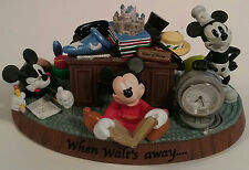 Mickey Mouse Desk Clock When Walt's Away Park Exclusive 4 Generations Disney