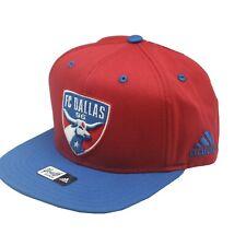 FC Dallas Official MLS Adidas Kids Youth Boys 8-20 Flat Brim Snap Back Hat Cap