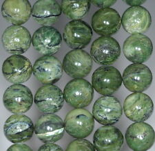 12MM GREEN CHRYSOPRASE GEMSTONE ROUND LOOSE BEADS 15.5""