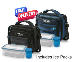 Titan Expandable Lunch Bag - With Ice Pack - Keeps Cold Up To 6 Hours box