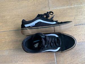 Vans Old Skool Pro Size UK 5 EU 38 Black Suede&fabric Trainers
