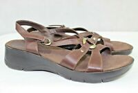 BARE TRAPS womens sandals size 6 m leather upper brown great condition buckle
