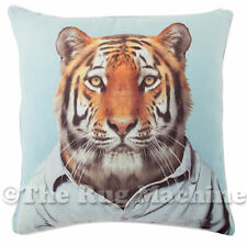 ZOO PORTRAIT TIGER CHARACTER SUEDE FEEL ANNABEL TRENDS CUSHION 45x45cm **NEW**