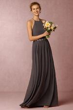 BHLDN Alana Dress NWT Donna Morgan Wedding Charcoal Grey Anthropologie 14