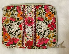 """Vera Bradley Quilted Padded Laptop Sleeve 14"""" Case Pink Floral"""