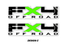 """FX4 Off Road Truck Bed Decal Set For Ford F150 09-14 Vinyl Stickers 17""""X4"""" GREEN"""
