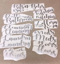 SetOf 10 Hinch Hinching Decals Labels Bathroom Kitchen Cleaning Ikea Box Zoflora