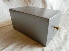 "MID CENTURY STEEL DRAPERS STORAGE BOX. 12"" X 7"" X 6"" (30cm X18cm X15cm)"