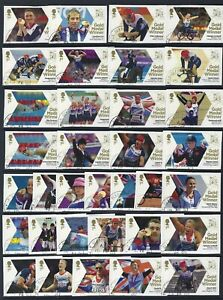 GREAT BRITAIN 2012 LONDON PARALYMPIC GAMES SET OF 34 FINE USED