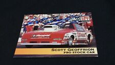 Racing Pro Set Card #138 signed by Scott Geoffrion